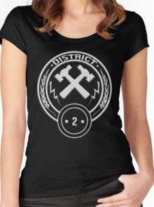 District 2 - Masonry Women's Fitted Scoop T-Shirt