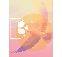 Fancy Letter B Photographic Print