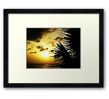 Day Ends Framed Print