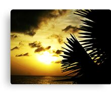Day Ends Canvas Print