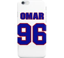 National football player Omar Gaither jersey 96 iPhone Case/Skin