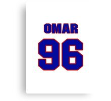 National football player Omar Gaither jersey 96 Canvas Print