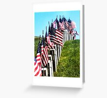 At Attention Greeting Card
