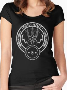District 5 - Power Women's Fitted Scoop T-Shirt