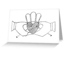 The Knitting Claddagh Greeting Card