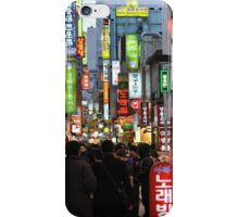 Even At Night, Myeondong is Crowded iPhone Case/Skin