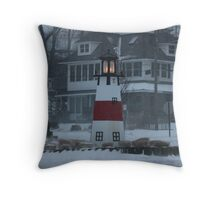Snowy Afternoon at the Bluff Throw Pillow