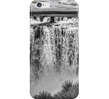 Iguazu Falls - From river level - monochrome iPhone Case/Skin