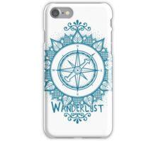 Wanderlust Compass Design - Blue iPhone Case/Skin