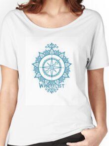 Wanderlust Compass Design - Blue Women's Relaxed Fit T-Shirt
