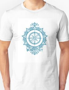 Wanderlust Compass Design - Blue T-Shirt