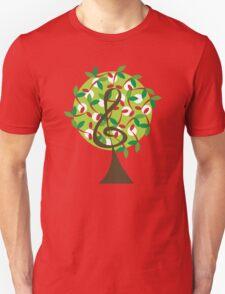Musical Cherry Notes Tree Unisex T-Shirt