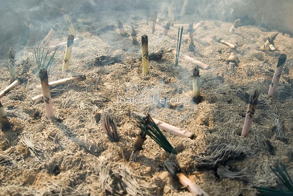 Burning incense by Joakim Leroy