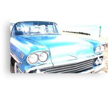 Bright Bleached Cadillac Hood Canvas Print