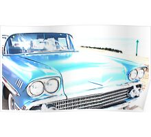 Bright Bleached Cadillac Hood Poster