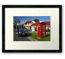 Old Phone Box - Central Tilba Framed Print