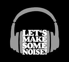Let's make some noise - DJ headphones (grey/white) by theshirtshops