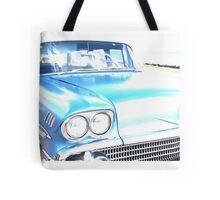 Bright Bleached Cadillac Hood Tote Bag