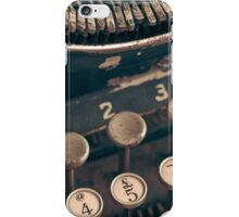 Vintage Typewriter iPhone Case/Skin