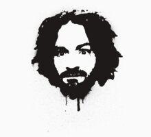 Charles Manson Stencil by rudeboyskunk