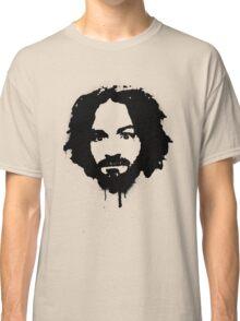 Charles Manson Stencil Classic T-Shirt