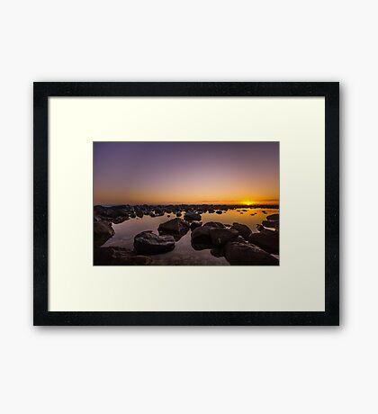 Crystal Stillness On The Rocks Framed Print