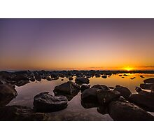 Crystal Stillness On The Rocks Photographic Print