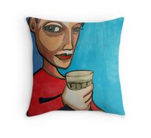 Late Latte Throw Pillow