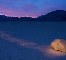 Race Track @ Death Valley California by Charlie  Lin