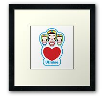 Three Matryoshka Babushka Dolls Framed Print