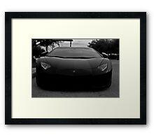 Lamborghini Aventador Stare Down  Framed Print