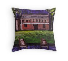 The dererlict house Throw Pillow