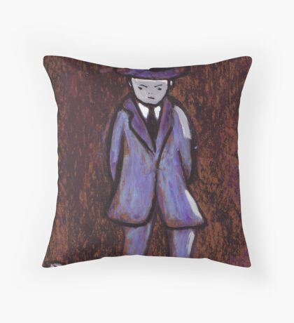 A man walking Throw Pillow