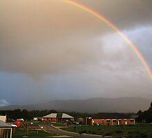 Rainbow over Mt Macedon by AUSSKY