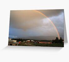 Rainbow over Mt Macedon Greeting Card