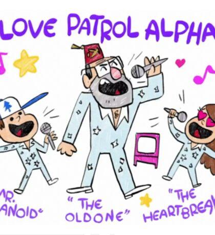 Gravity Falls LOVE PATROL ALPHA Replica Sticker