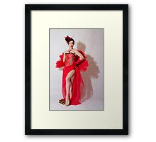 A Scarlett Rose Framed Print
