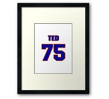 National football player Ted Vincent jersey 75 Framed Print