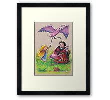 Croquet with the Queen of Hearts Framed Print