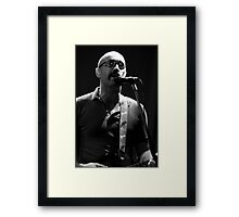 Joe lead singer of Fred Framed Print