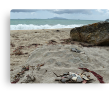 Langs Beach, New Zealand - New Year's Day 2015 Canvas Print