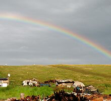 Rainbow and garbage by claudiu