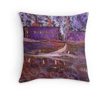Industrial scene nowhere in particular Throw Pillow