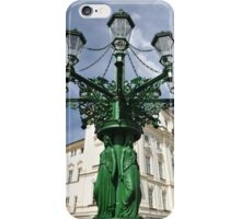 Prague lamppost iPhone Case/Skin