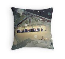 Winter on Svalbard Throw Pillow