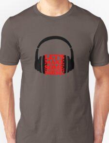 Let's make some noise - DJ headphones (black/red) Unisex T-Shirt