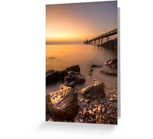 Clevedon Pier revisited Greeting Card