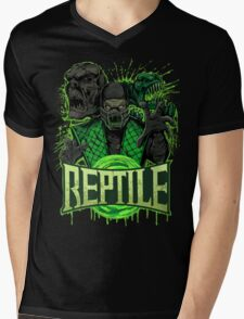 REPTILE Mens V-Neck T-Shirt