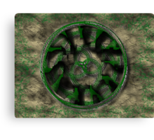 Moss Covered Celtic Spirals Canvas Print