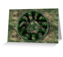 Moss Covered Celtic Spirals Greeting Card